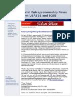2010 USASBE ICSB Social Entrepreneurship Newsletter-Vol1 No3