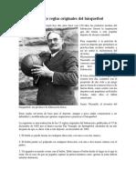 Las Trece Reglas Originales Del Básquetbol