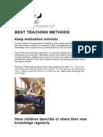 Best Teaching Methods