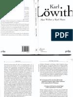 Lowith, Karl - Max Weber y Karl Marx (Ensayo Comparativo