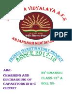 PHYSICS INVESTIGATORY PROJECT 2017-18