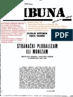 Kostunica i Cavoski- Stranacki Pluralizam Ili Monizam