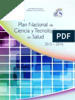 DDCTSD Plan Nacional Ciencia Tecnologia en Salud 2012 2016
