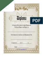 Printable Diploma Award Certificate Brown