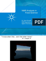Using NMR for Food Science Applications