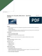 MacBook Air (13 pollici, Metà 2012) - Specifiche tecniche