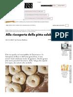 Pitta Calabrese - La Cucina Italiana