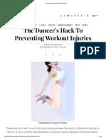 Prevent Knee Injuries Ballet Dancers