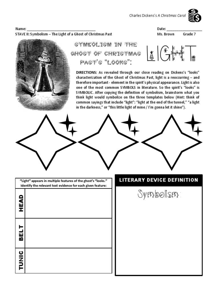 Christmas Carol Stave 2 Symbolism The Light Of The Ghost Of