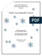2018-1-11 Jazz Ensembles & VMSS 8th Grade