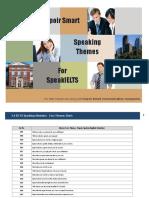 Speak IELTS Speaking Simulator Themes