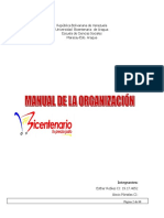 Manual de Organizacion Bicentenario