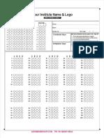 100 Questions OMR Sheet
