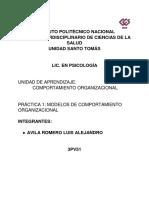 Práctica #1 Comportamiento Organizacional