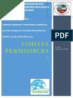Limites Permisibles Del Agua...