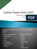 Latihan Power Point 2007