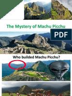 The Mystery of Machu Picchu by Christian Alvarado
