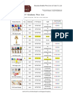 2017 Kendama Price List(Honrui)