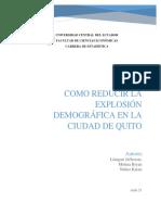 Demografía en la Ciudad De Quito