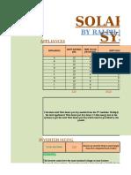 Solar Panel Calculations