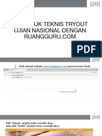 Petunjuk Tryout Ruangguru.com