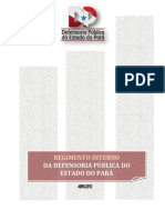 Regimento Interno da Defensoria Pública do Estado do Pará
