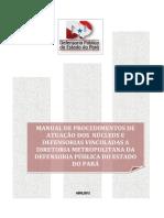 Manual de Procedimentos Da Defensoria Pública - Núcleos e Defensorias Vinculadas à Diretoria Metropolitana
