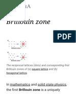 Brillouin Zone