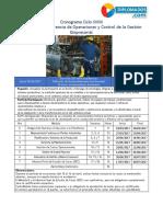 DGOCGE - Ciclo 39 Cronograma y Programa Sinóptico Integrado