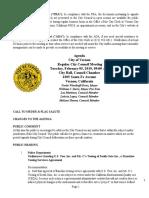 Vernon City Council Agenda Packet