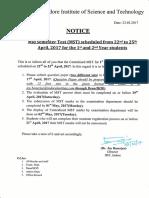 Notice Regarding MST 1st & 2nd Year (25.03.2017)