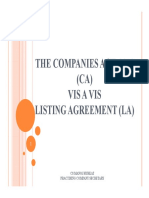Companies Act, 2013 Vis a Vis Listing Agreement_PPT