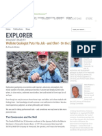 Wellsite Geologist Puts His Job - And Chin! - On the Line