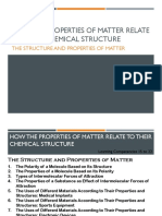 3. How the Properties of Matter Relate to Their Chemical Structure