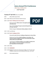 Brunel University Politics & History PhD Conference Handbook 25-26th April 2017