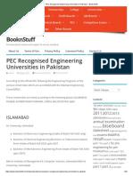 PEC Recognised Engineering Universities in Pakistan – BooknStuff
