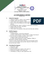 Accomplishment Report