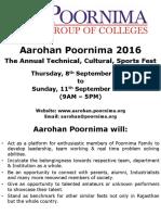 Aarohan Poornima 2016