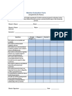 Mentee Evaluation Form