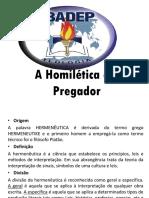 A Homilética e o Pregador