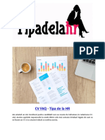 CV FAQ - Tipa de La HR Handbook