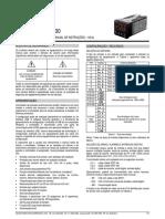 Manual Controlador Novus Modelo N1200 v20x