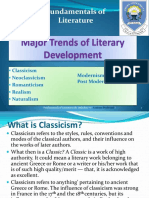 Major Trends of Literary Development (Literary Periods/Movements)