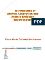 CH 8 and 10 -Basic Principles of Atomic Absorption and Atomic Emission Spectroscopy