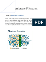 What is Membrane Filtration