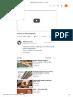 (166) Making Wood Thread Taps - YouTube