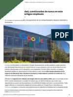 Google y Su Diversidad, Cuestionados de Nuevo en Un Documento