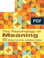 The Psychology of Meaning
