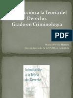 Introducción a La Teoría Del Derecho. Tema 1