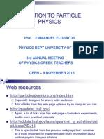 ParticlePhysicsFOR TEACHERS